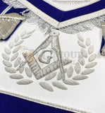 Blue Lodge Master Mason Apron Hand Embroidery Apron Gauntlet and Collar Set