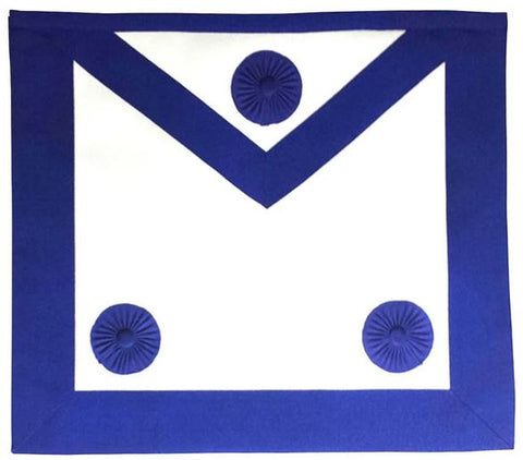 Masonic Master Mason Apron Royal Blue