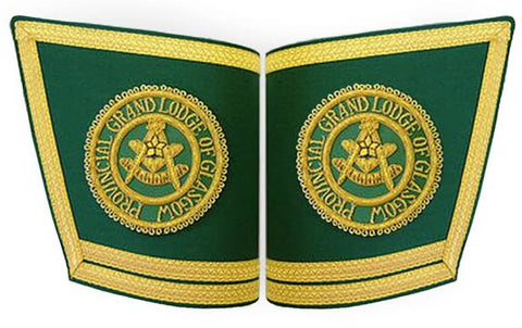 Masonic Personalised Handmade Embroidery Cuffs/Gauntlets