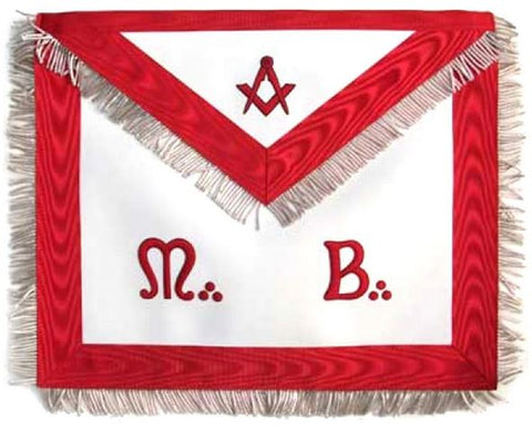 "Masonic Scottish Rite AASR Honor Apron ""M+B"" Leather Apron"