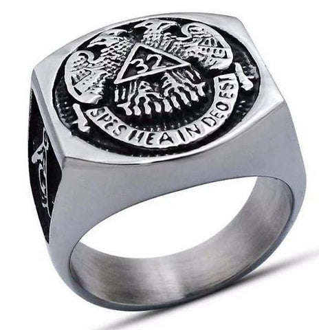 32 Degree Scottish Rite Masonic Ring