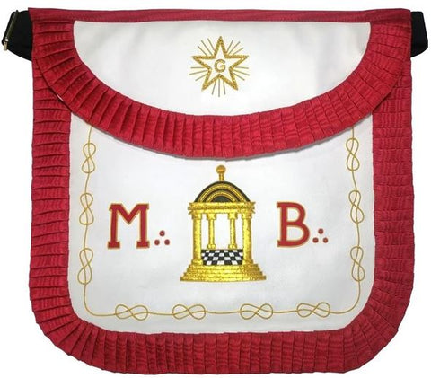 Masonic Scottish Rite Round Apron - AASR - Master Mason - MB Temple