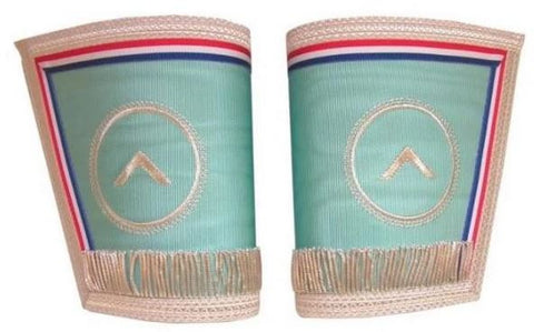 Masonic Gauntlets Cuffs Embroidered With Fringe Worshipful Master Emulation Rite