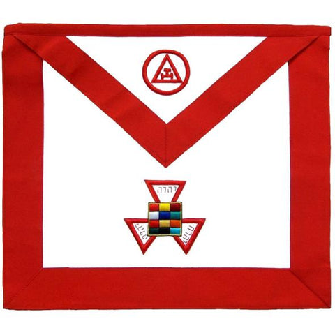 Masonic Royal Arch Past High Priest PHP Hand Embroidered Apron