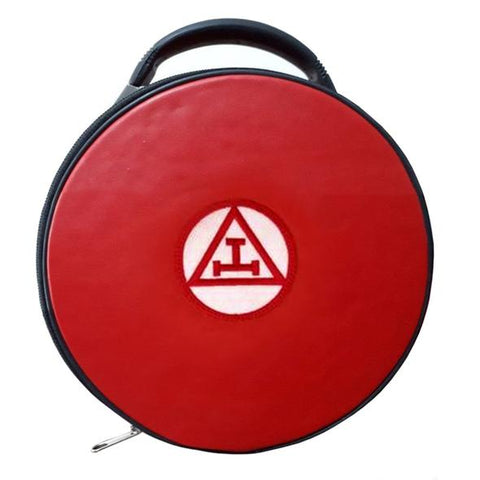 Masonic Royal Arch Hat/Cap Case Red