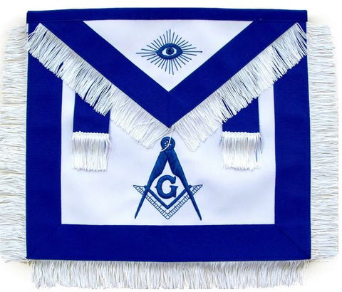 Masonic Master Mason Apron With White Fringe