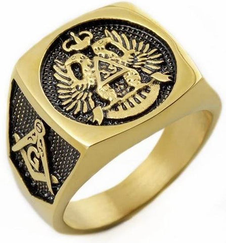 33 Degree Scottish Rite Gold Masonic Ring