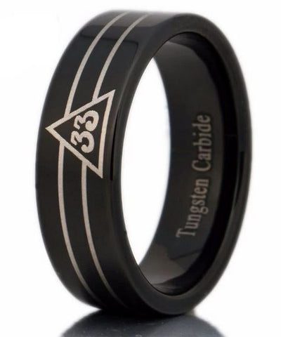 33rd Degree Le Baiser Masonic Ring FREE Engraving