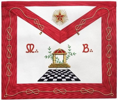 Masonic Scottish Rite Apron - AASR - Master Mason - Checkered Floor