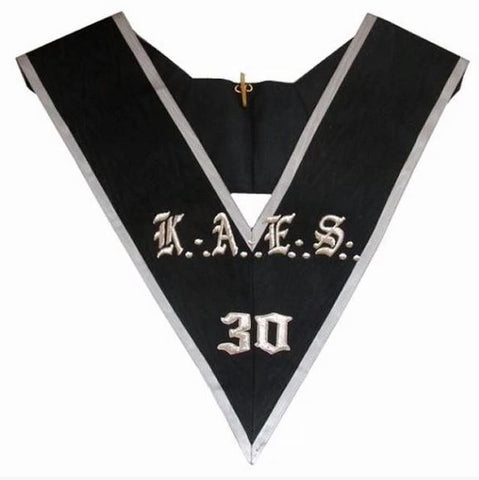 Masonic collar - AASR - 30th degree - KAES