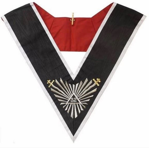 Masonic collar - AASR - 32rd degree - Great glory + glaives flamboyants
