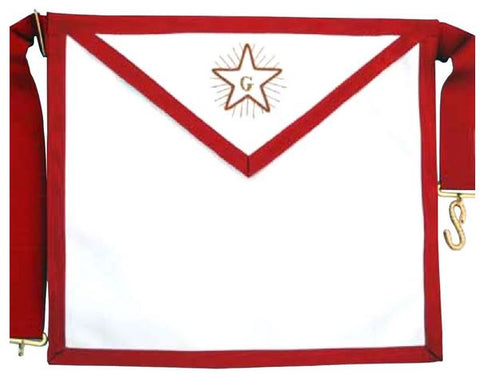 Masonic Scottish Rite AASR Fellowcraft Leather Apron