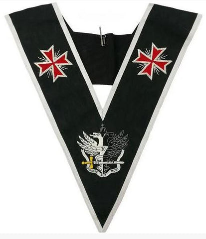 Masonic collar - AASR - 30th degree - Templar Cross & Bicephalic Eagle