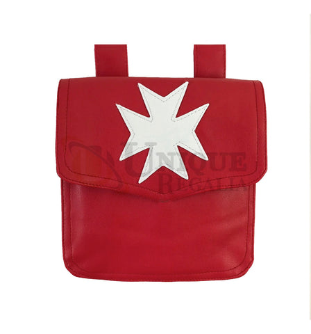 Knight Malta Alms Bag Red