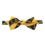 High Quality 100% Silk Masonic Bow Tie Yellow and Black - kitchcutlery  - 2