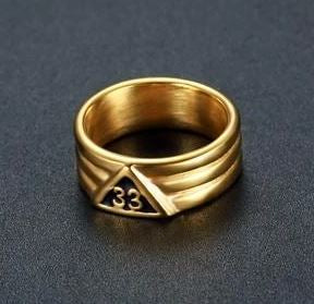 33rd Degree Classic Masonic Ring [Silver & Gold]
