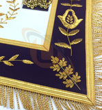 Masonic Blue Lodge Past Master Gold Handmade Embroidery Apron Purple Velvet - kitchcutlery  - 3