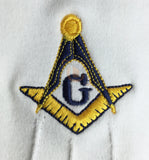 Masonic Gloves Yellow Square compass with G Machine Embroidery - kitchcutlery  - 2