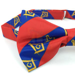 High Quality 100% Silk Masonic Bow Tie Red and Blue - kitchcutlery  - 3