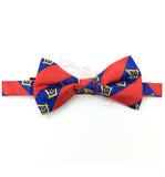 High Quality 100% Silk Masonic Bow Tie Red and Blue - kitchcutlery  - 2
