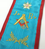 Masonic Blue Lodge worshipful Master Mason Apron and sash set - kitchcutlery  - 7