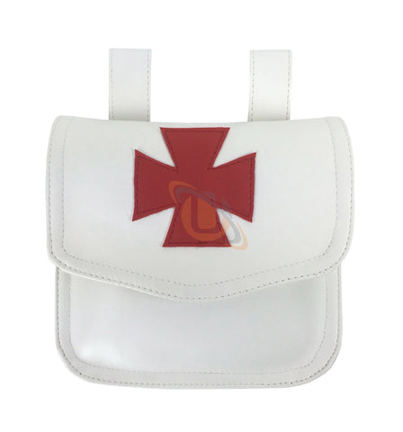 Knight Templar Alms Bag White - kitchcutlery  - 1