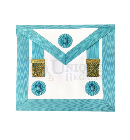French Rite Venerable Rectified Master Apron with Golden Tassels