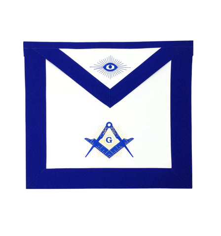 Masonic Blue Lodge Master Mason Apron Machine Embroidery Blue - kitchcutlery  - 1