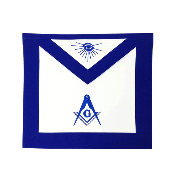 Copy of Masonic Blue Lodge Master Mason Apron Machine Embroidery Blue - kitchcutlery  - 1