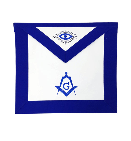 Copy of Copy of Masonic Blue Lodge Master Mason Apron Machine Embroidery Navy - kitchcutlery  - 1
