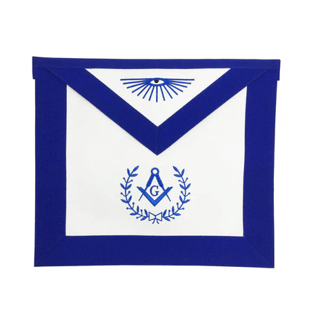 Copy of Masonic Blue Lodge Master Mason Apron Machine Embroidery with Fringe Navy - kitchcutlery  - 1