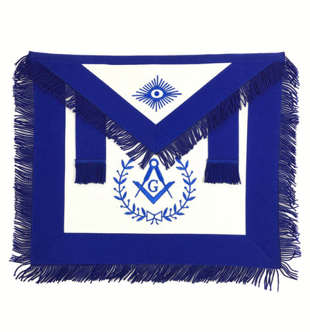 Copy of Masonic Blue Lodge Master Mason Silver Machine Embroidery Freemasons Apron - kitchcutlery  - 1