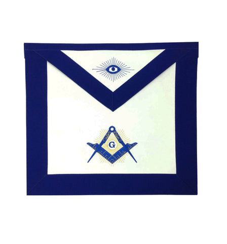 Copy of Masonic Blue Lodge Master Mason Apron Machine Embroidery Navy - kitchcutlery  - 1