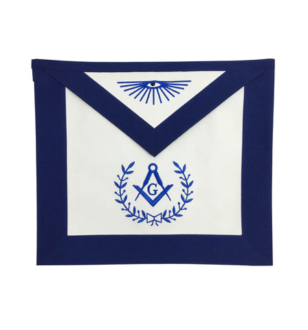 Masonic Blue Lodge Master Mason Apron Machine Embroidery Navy - kitchcutlery  - 1