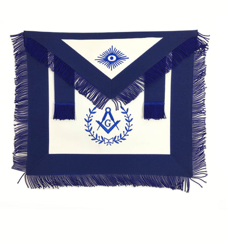 Copy of Masonic Blue Lodge Master Mason Apron Machine Embroidery with Fringe Blue - kitchcutlery  - 1