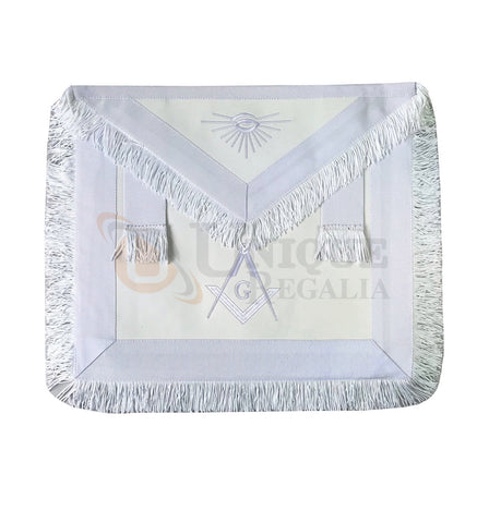 Blue Lodge Master Mason Apron white with Fringe