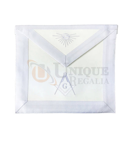 Blue Lodge Master Mason Apron with Square Compass G