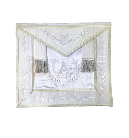 Blue Lodge Past Master Apron white