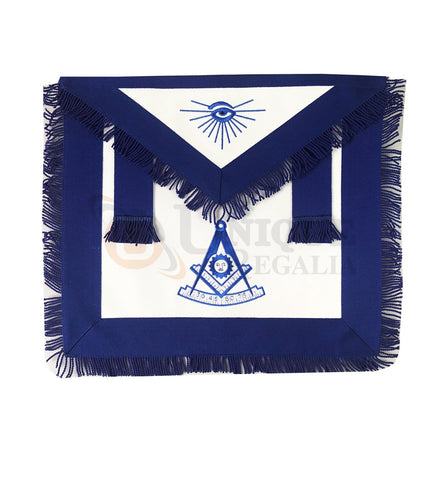 Blue Lodge Past Master Apron with Blue Fringe