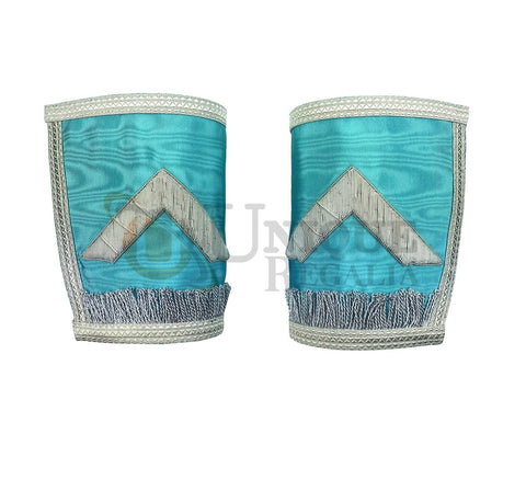 Craft Grand Master Hand embroided Gauntlets Silver Embroidery