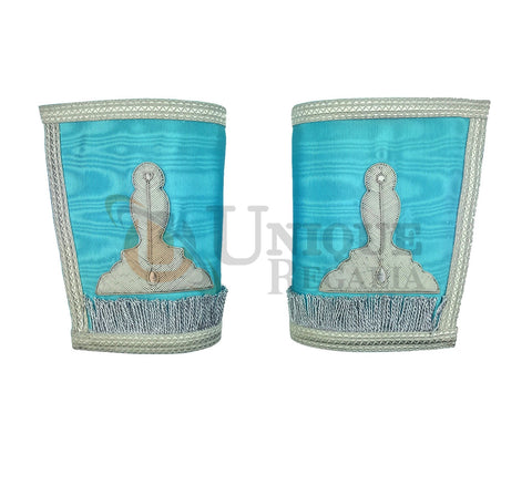 Craft Senior Warden Hand embroided Gauntlets Silver Embroidery