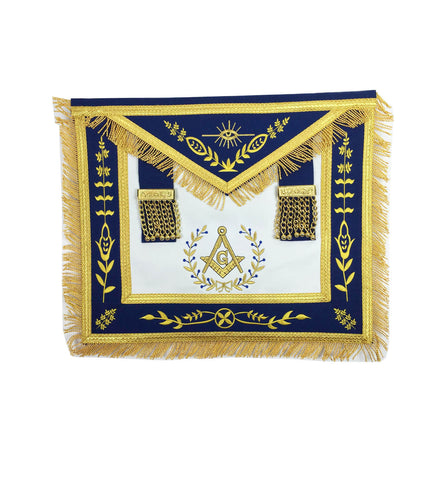 Masonic Blue Lodge Master Mason Gold Machine Embroidery Apron - kitchcutlery  - 1