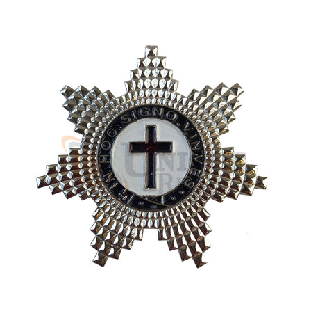 MASONIC KNIGHT TEMPLAR SILVER PLATED BREAST STAR JEWEL