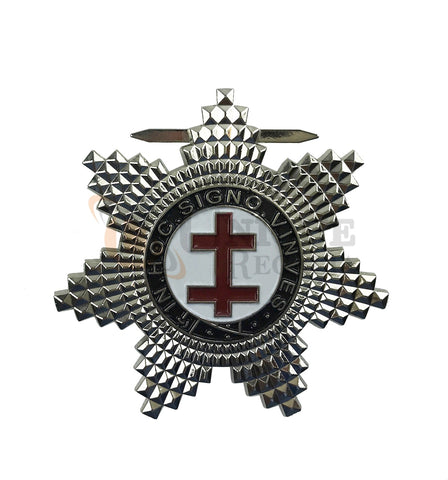 MASONIC KNIGHT TEMPLAR PRECEPTORS SILVER PLATED BREAST STAR JEWEL