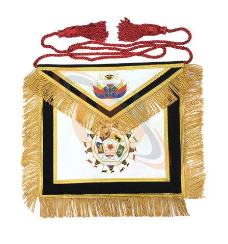 Masonic SCOTTISH RITE 32nd Degree Apron Hand Embroidery Master of Royal Secret - kitchcutlery  - 1