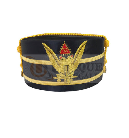 Scottish Rite A.A.S.R. 32nd Degree Double Headed Eagle Cap-Crown Hand Embroidery MD026