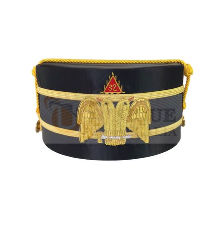 Scottish Rite A.A.S.R. 32nd Degree Double Headed Eagle Cap-Crown Hand Embroidery MD028