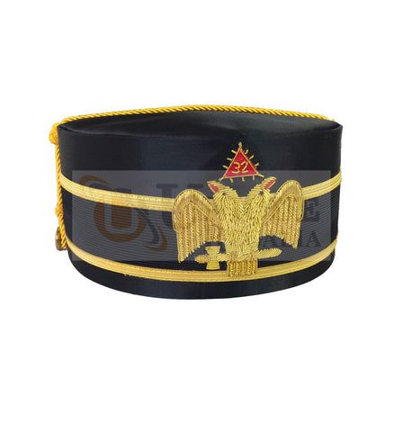 Scottish Rite A.A.S.R. 32nd Degree Double Headed Eagle Cap-Crown Hand Embroidery MD030