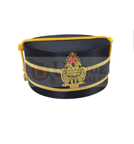 Scottish Rite A.A.S.R. 32nd Degree Double Headed Eagle Cap-Crown Hand Embroidery MD031