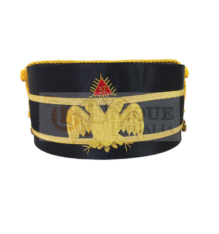 Scottish Rite A.A.S.R. 32nd Degree Double Headed Eagle Cap-Crown Hand Embroidery MD032